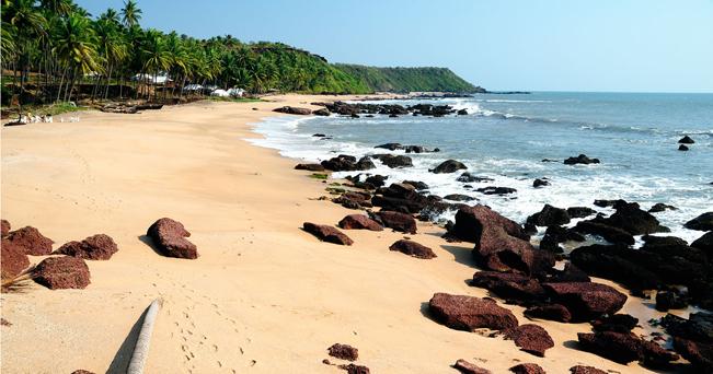 La spiaggia di Cola, a Goa (foto Clemente do Rosario/Alamy)