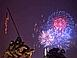 I  fuochi  artificiali illuminano il Marine Corps War Memorial (foto Wolfram's DC Stock Images / Alamy)